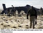 AH64, written off after machine suffered major power loss Paktika province