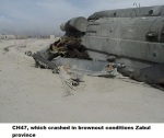 CH47, which crashed in brownout conditions Zabul province