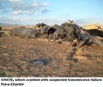CH47D, which crashed with suspected transmission failure Pul-e-Charkhi