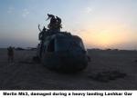 Merlin Mk3, damaged during a heavy landing Lashkar Gar