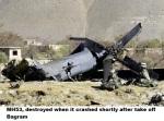 MH53, destroyed when it crashed shortly after take off Bagram